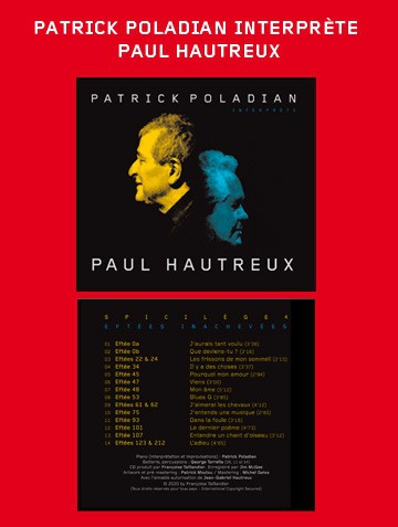 Patrick Poladian interprète Paul Hautreux CD