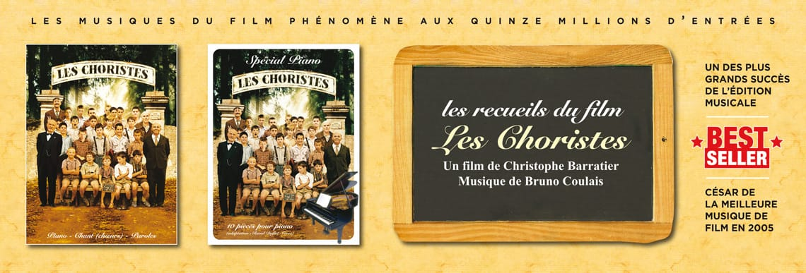 songbook partitions les choristes