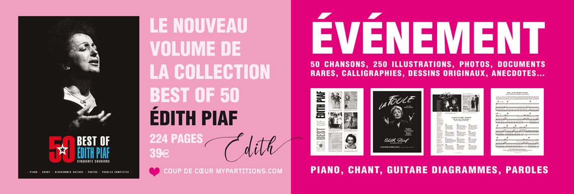 songbook partitions best of 50 piaf